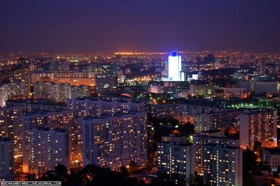 Evening Moscow city of Russia views 6th photo