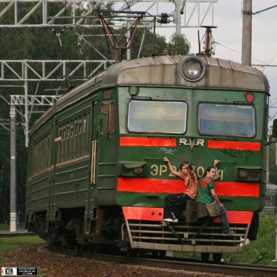 Russian railway stowaways