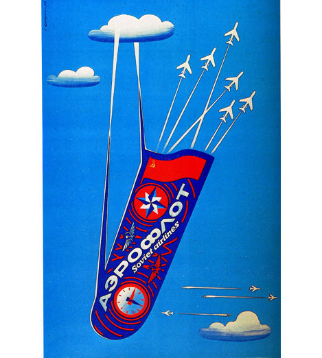 Aeroflot, líneas aéreas de la Unión soviética.