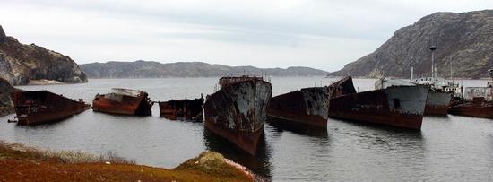 Russian naval graveyard