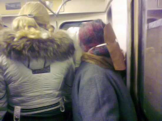 Swine flu mask (Moscow metro)