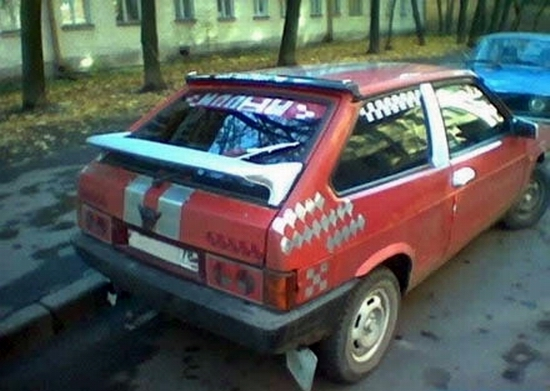 Lot of car owners in russia like to make their cars unique and