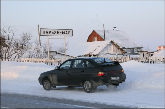 Travelling to Naryan-Mar city, Russia