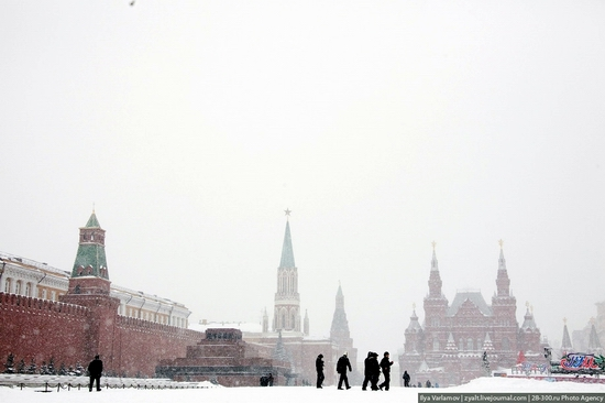 Moscow city snowfall