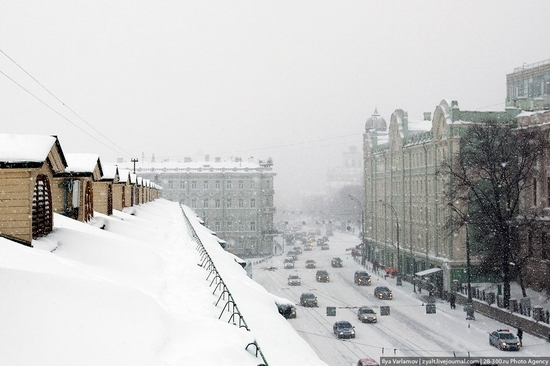 Moscow City Hit By The Heaviest Snowfall In The History