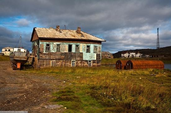 Murmansk oblast Dalniye Zelentsy settlement