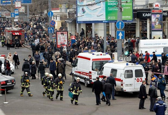 Moscow city sceneries after explosions