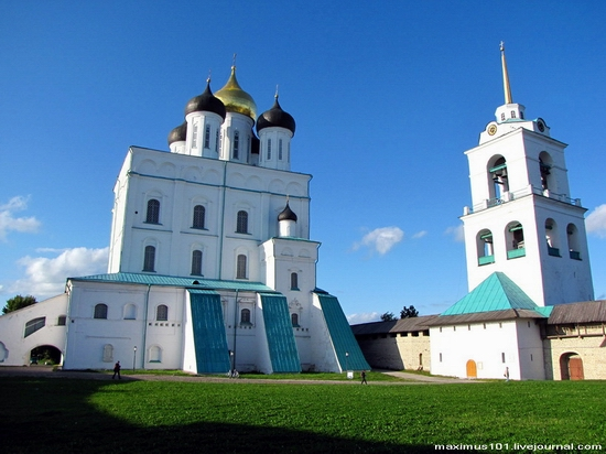 Pskov city, Russia kremlin view