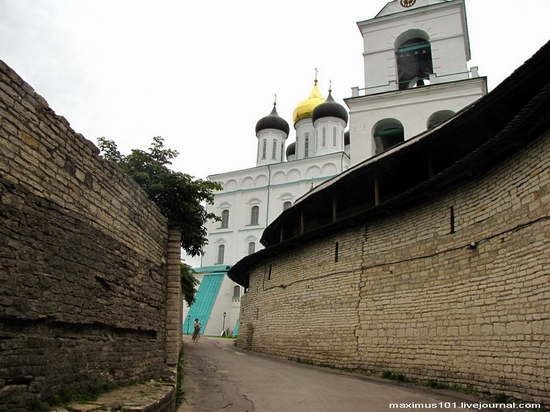 Pskov city, Russia kremlin view
