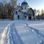 The original newly built church of classical Russian style