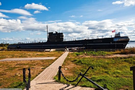 Russian submarine museum view