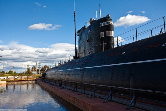 Russian submarine museum view