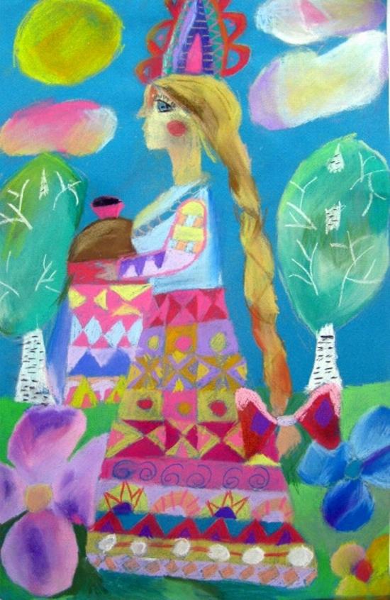 Katja Borovikova, age 10 Children art studio Rostok Ob Russia