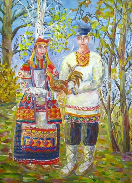 Ljuba Kulakova, age 16 Children art studio Rostok Ob Russia