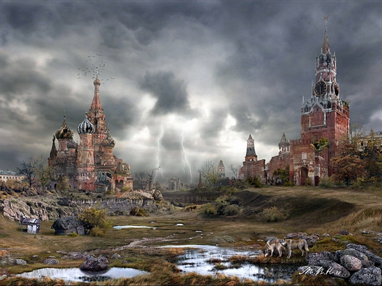 Moscow city Red Square possible future view