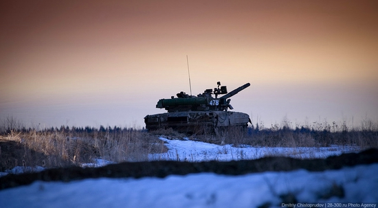 Russian army armoured division military exercise