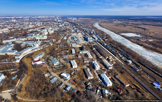 Vladimir oblast, Russia bird's eye view