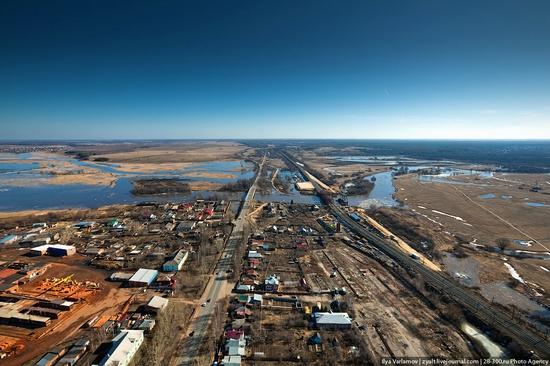 Vladimir oblast, Russia bird's eye view
