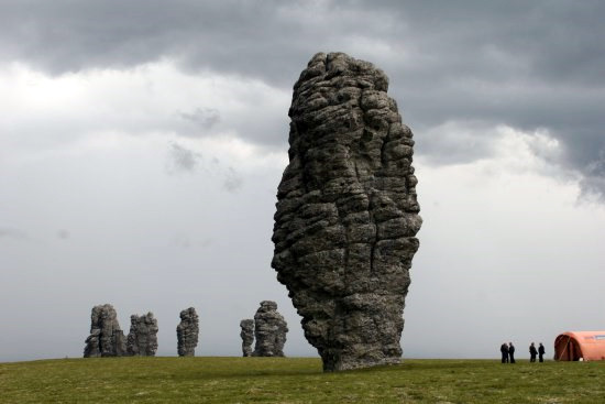 Komi Republic, Russia weathering pillars view