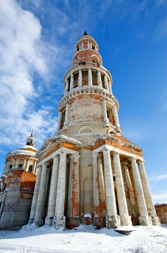 Ryazan oblast, Russia beautiful cathedral view