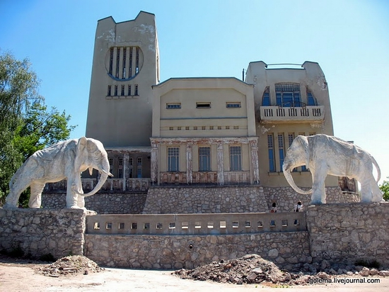 Samara city, Russia mansion with elephants