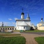 The historic market square of Suzdal city photos