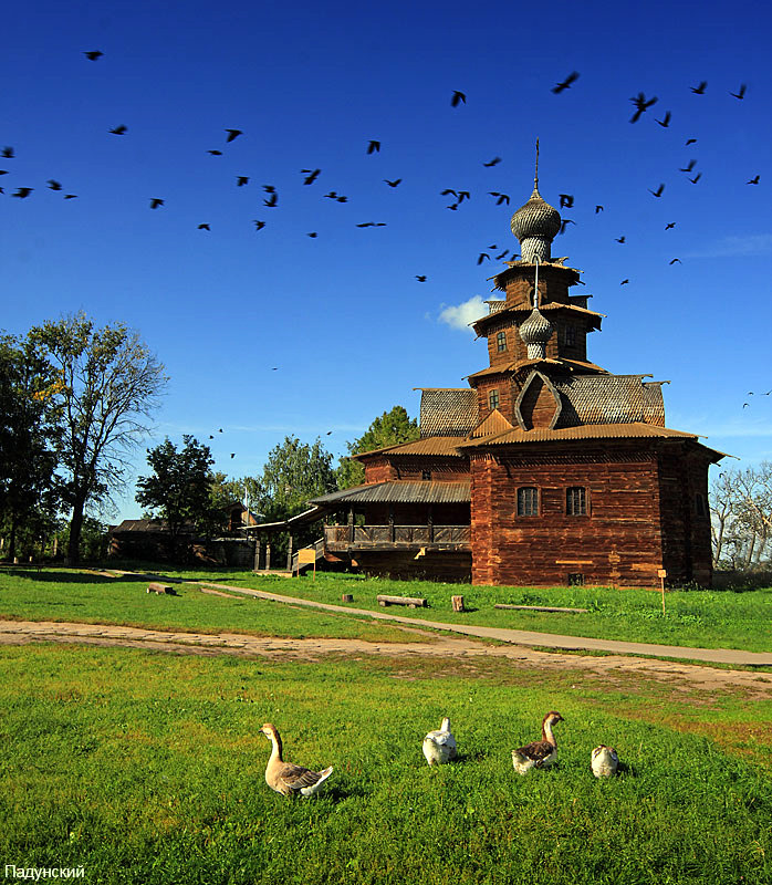 Suzdal city, russia wooden architecture museum