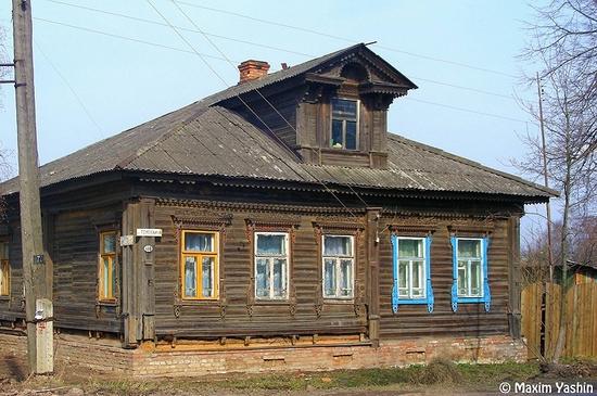 Tutaev town, Russia view