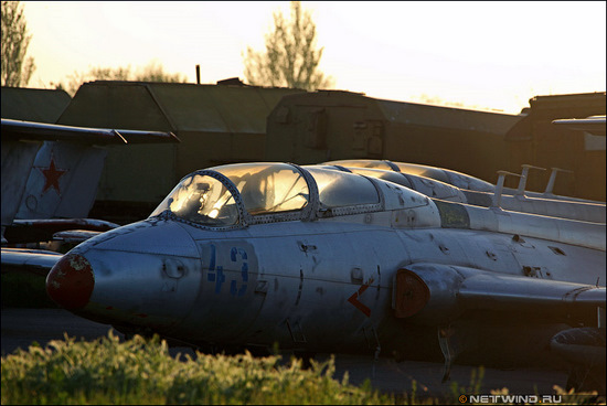 Abandoned Russian airbase view