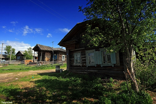 Classical Russian village view