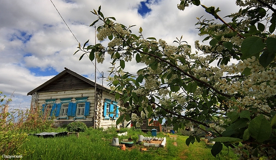 Classical Russia village view