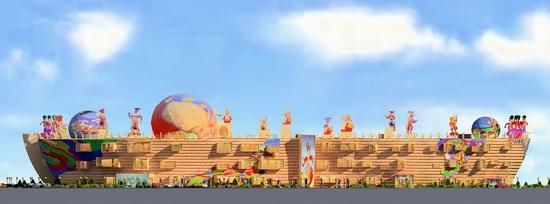Khanty-Mansiysk city, Russia puppet theater project view