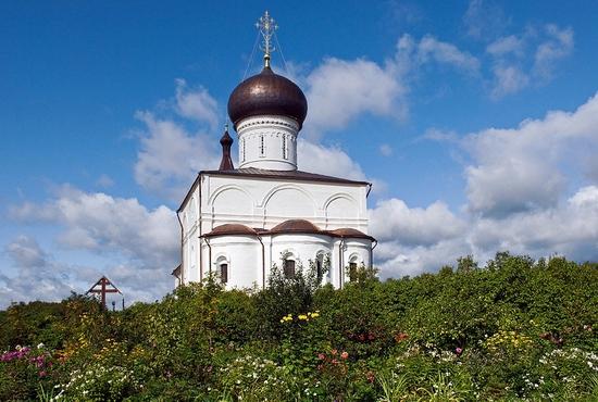 Tver oblast, Russia monastery view