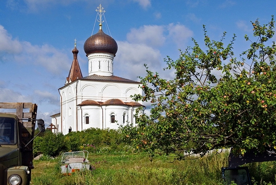 Tver oblast, Russia monastery view