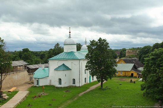 Izborsk town, Russia ancient fortress view