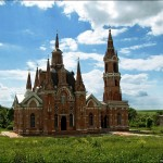 The Gothic style cathedral of Lipetsk oblast photos