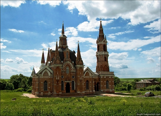 Lipetsk oblast, Russia Gothic church view