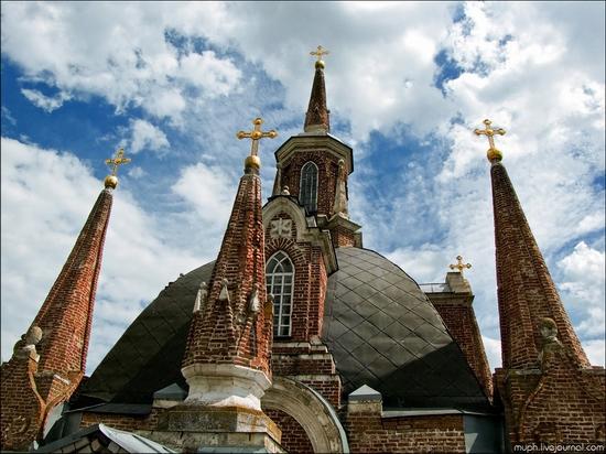 Lipetsk oblast, Russia Gothic church view