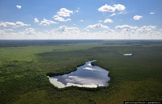 Novosibirsk oblast, Russia bird's eye view