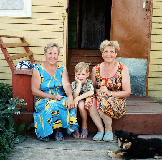 Russian country people view