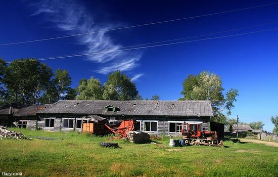 Russian village scenery
