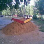 Unusual sandbox for Russian kids