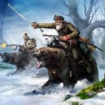 Russian partisans bear cavalry view