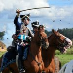 Borodino battle reconstruction sceneries