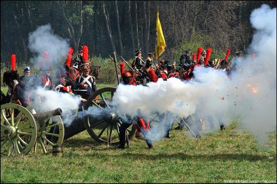Borodino battle reconstruction, Russia - battlefield scenery