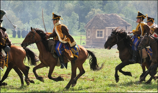 Borodino battle reconstruction, Russia - battlefield scenery