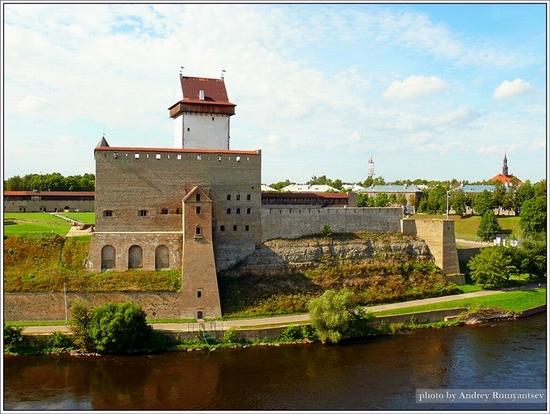 Ivangorod town, Leningrad oblast, Russia - Narva fortress view