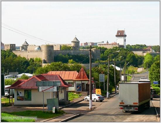 Ivangorod town, Leningrad oblast, Russia fortress view