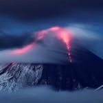 The eruption of volcano Kluchevskaya Sopka
