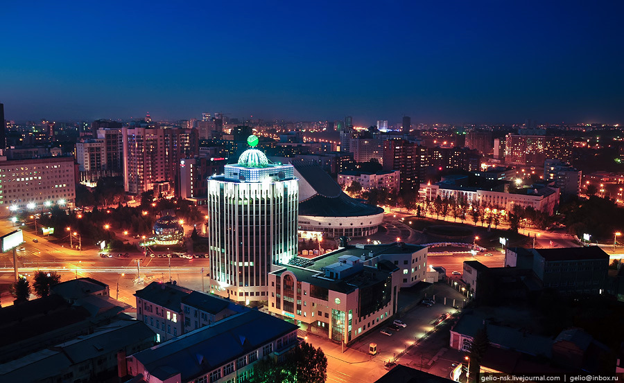 Novosibirsk Russia  City pictures : Evening and night views of Novosibirsk city · Russia travel blog